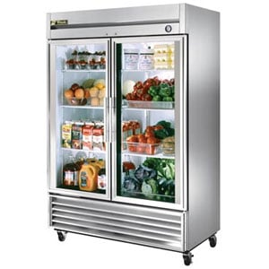 Glass Door Reach In Refrigerators
