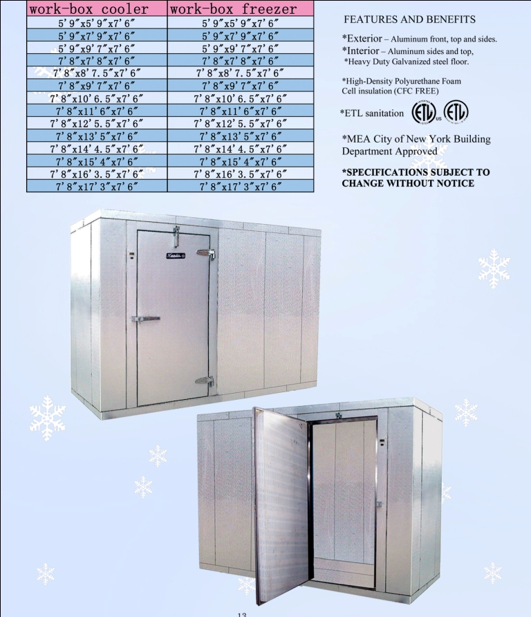 Leader Wic610 6 X 10 Walk In Cooler Box