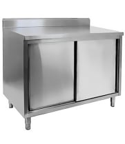 Stainless Steel Storage Dish Cabinets with Backsplash