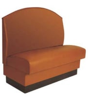 American Tables and Seating AS-42F - Fan Back Upholstered Single Booth