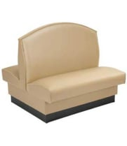 American Tables and Seating AD-42F - Fan Back Upholstered Double Booth