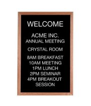 "Universal 116OC1218OAK - 12"" x 18"" Black Chalk Board w/ Oak Wood Frame"