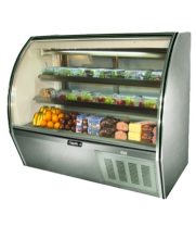 "Leader NRHD60SC - 60"" Curved Glass Deli Display Case - High Volume"