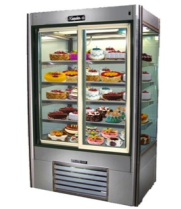 "Leader LS48DS - 48"" Sliding Glass Door Refrigerator - Four View"
