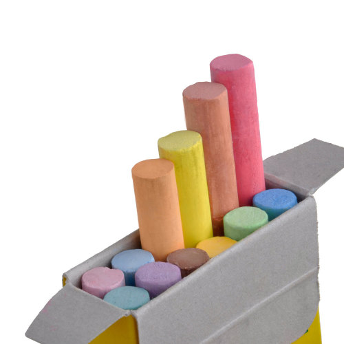 Universal 116CCS12 - Choice Assorted Colored Chalk - 12 Pieces / Box