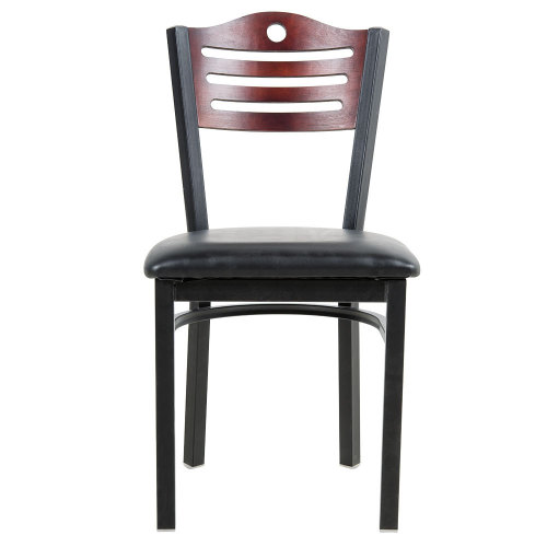 Universal 164CBSTUPMAH - Mahogany Finish Bistro Dining Chair with 1 1/2