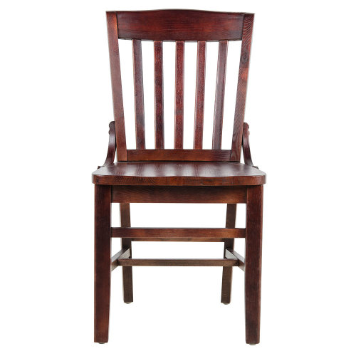 Universal 164CSCHLMAH - Mahogany Finish Wooden School House Chair