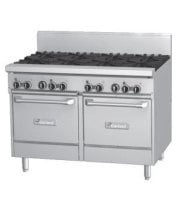 Garland GFE48-8LL - 8 Burner Gas Range - (2) Space Saver Ovens - Electric Ignition