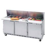 Beverage Air - SPE72-18 - Sandwich Prep Table - Front Breathing Mega-Top - 72""
