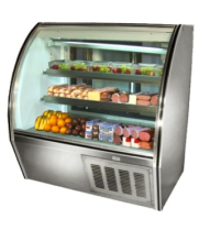 "Leader NRHD48SC - 48"" Curved Glass Deli Display Case - High Volume"