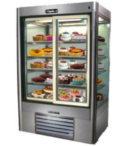 "Leader LS60DS - 60"" Sliding Glass Door Refrigerator - Four View"