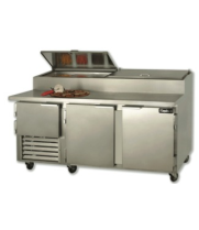 "Leader PT84-M - 84"" Pizza Prep Table - Marble Top"