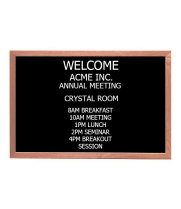 "Universal 116OC2436OAK - 24"" x 36"" Black Chalk Board w/ Oak Wood Frame"