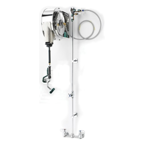 Krowne 24502 - Hose Reel Assembly - Enclosed Stainless Steel - 8