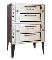 Attias MRS2-16NG2 - Mini Deck Natural Gas Pizza Oven - Double Deck 48""