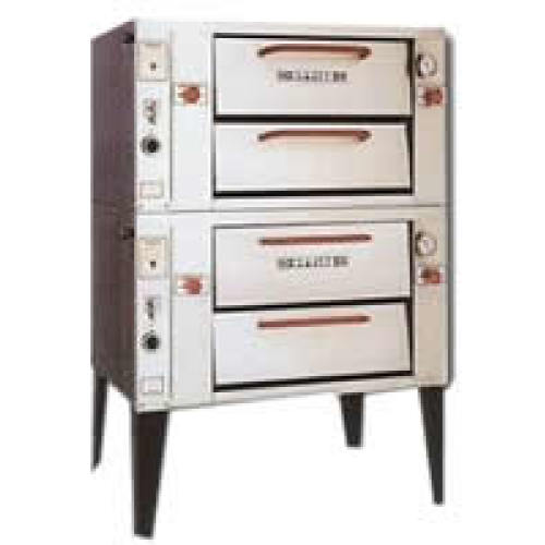 Attias Mini Deck Natural Gas Pizza Oven - Double Deck 48