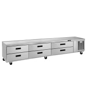 "True TRCB-110 - 110"" 6 Drawer Refrigerated Chef Base"