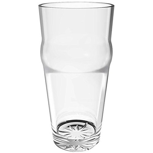 Thunder Group PLTHEP016C - 16 oz. English Pub Glass - Polycarbonate - Clear - Case of 12