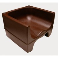 Update International PP-BC-BR - Brown Plastic Booster Chair
