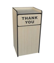 "Universal 407WRU35 - 35 Gallon ""Thank You"" Waste Receptacle Enclosure With Tray Top"
