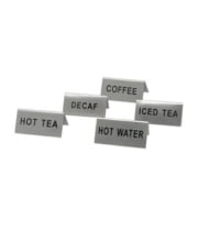 "Update International TS-THE - ""Hot Tea"" Stainless Steel Tent Sign"