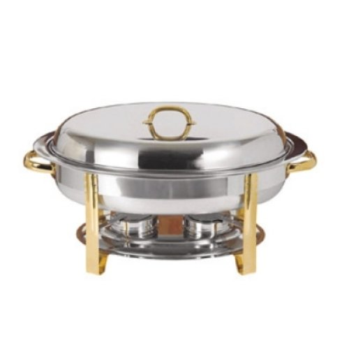 Update International DC-3FP - 6 Qt - Oval Chafer Food Pan