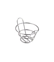 "GET Enterprises - 4-22770 - 4 1/2"" x 2 1/2"" Chrome Appetizer Bucket Basket"