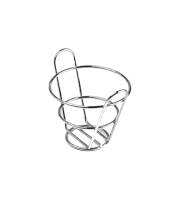 "GET Enterprises - 4-22778 - 4 1/2"" x 3"" Chrome Appetizer Bucket Basket"