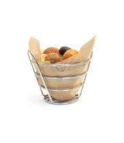 "GET Enterprises - 4-22782 - 6"" x 4"" Chrome Bucket Basket"