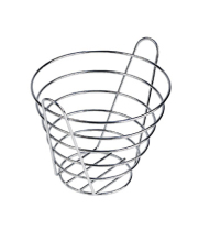 "GET Enterprises - 4-22788-M - 9"" Medium Chrome Bucket Basket"