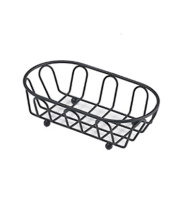 GET Enterprises - 4-33454 - Medium Black Powder-coated French Basket