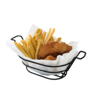 GET Enterprises - 4-33785 - Oval Black Powder-coated Basket With Handles