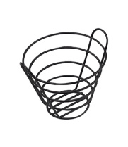 "GET Enterprises - 4-33787-S - 7"" Small Black Powder-coated Bucket Basket"