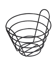 "GET Enterprises - 4-33789-L - 10 1/2"" Large Black Powder-coated Bucket Basket"