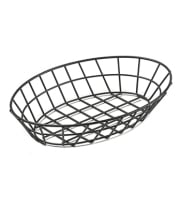 "GET Enterprises - 4-34418 - 12"" Oval Black PE-coated Basket"