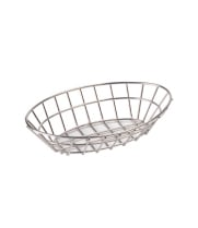 "GET Enterprises - 4-82144 - 9 3/4"" Oval Stainless Steel Basket"