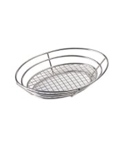 "GET Enterprises - 4-83814 - 11"" Stainless Basket w/ Grid Base"