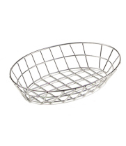 "GET Enterprises - 4-84418 - 12"" Oval Stainless Steel Basket"