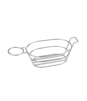 GET Enterprises - 4-88701 - Stainless Steel Dip Basket with 1 Condiment Holder