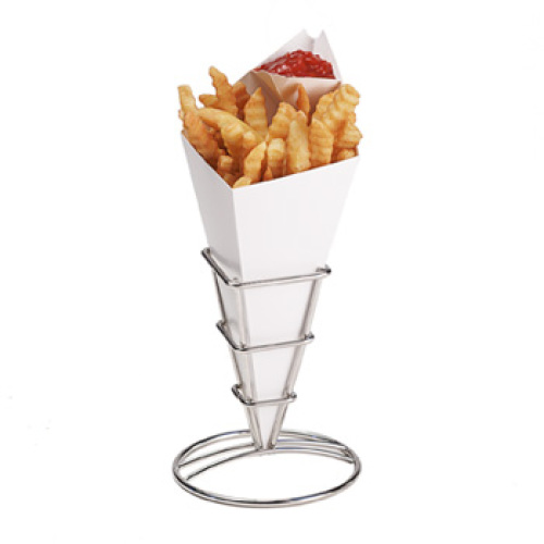 Clipper Mill - 4-21644 - Single Square Chrome French Fry Cone