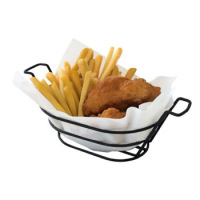 Clipper Mill - 4-33785 - Oval Black Powder-coated Basket With Handles