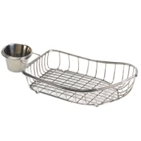 Clipper Mill - 4-80117 - Mini Stainless Boat Basket w/ Condiment Holder