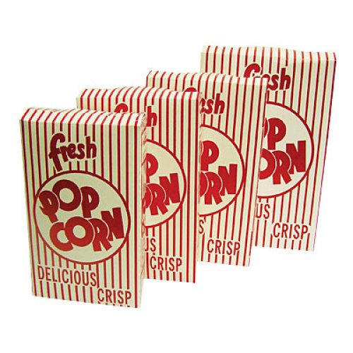 Benchmark USA 41574 - Closed Top Popcorn Boxes - 2.5 oz Capacity - Case of 50