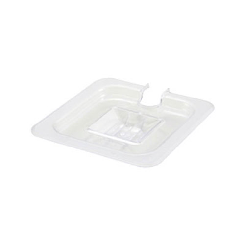 Winco Poly-Ware Slotted Food Pan Cover for Size 1/6 Size Pan [SP7600C]