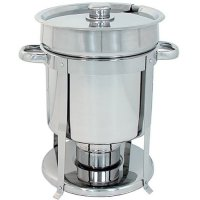 Update International CM-11 - 7 Qt - Stainless Steel Round Chafer