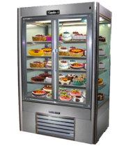 "Leader NPS48DS - 48"" Swinging Glass Door Refrigerator - Four View"