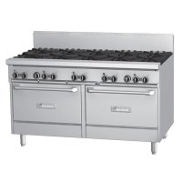 Garland GFE60-10RR - 10 Burner Gas Range - (2) Space Saver Ovens - Electric Ignition