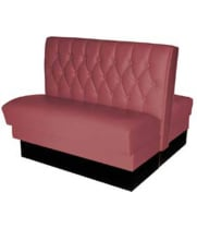 Vitro BA-4300 - Seating Products Nostalgic 50s Retro Plain Back Double Booth