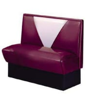 Vitro V-4300 - Seating Products Nostalgic 50s Retro V Back Single Booth