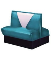 Vitro V-4300 - Seating Products Nostalgic 50s Retro V Back Double Booth